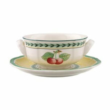 Villeroy & Boch French Garden Fleurence Creamsoup Cup & Saucer