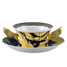 Versace Vanity SPECIAL IMPORT Cream Soup Cup 10 oz & Saucer 6 3/4""