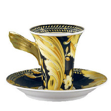 """Versace Vanity SPECIAL IMPORT A.D. Cup 3 Oz & Saucer 5"""""""