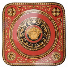 Versace Medusa Red Square Service Plate 13""