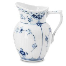 Royal Copenhagen Blue Fluted Half Lace Creamer 5.75 oz. (1102394)