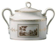 Richard Ginori Fiesole Covered Sugar Bowl 10.15 oz.