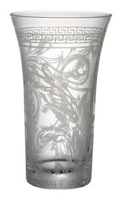 Versace Arabesque Clear Vase 10.25""