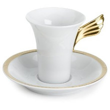 Versace Medusa D'or SPECIAL IMPORT A.D. Cup 3 Oz & Saucer 5""