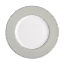 Monique Lhuillier Dentelle Accent Plate: Gray 9""
