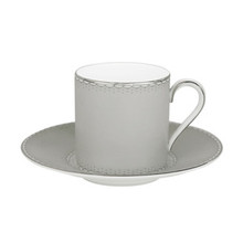 Waterford Monique Lhuillier Dentelle Espresso Cup & Saucer 4 oz. (Set of 2)