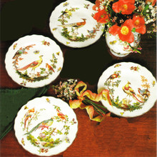 "Mottahedeh Chelsea Bird Dinner Plate 10"" (Set of 4)"