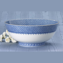 Mottahedeh Blue Lace Round Bowl 9""