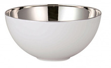 "Rosenthal TAC 02 Skin Platinum Open Vegetable Bowl 10 1/4"" 98 Oz"