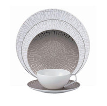 Rosenthal TAC 02 Skin Platinum 5 piece Place Setting (Dinner, Salad, Bread & Butter Plate, Combi Cup & Saucer)