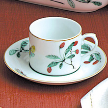 Mottahedeh Famille Verte Can Cup & Saucer (Set of 2)