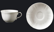 Richard Ginori Antico Doccia White Breakfast Cup & Saucer (Set of 4)