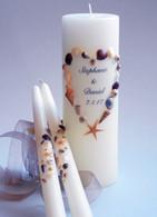 Sea Shell Heart Wedding Unity Candles