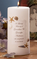 Sea Shell Memorial Candle