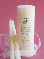 French Lace This Day Swarovski Crystal Wedding  Unity Candles