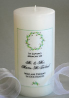 Laurel Wreath Memorial Candle