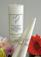 Ribbon Heart Poema Wedding Unity Candles