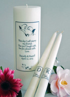 Leaf Heart Poema Wedding Unity Candles