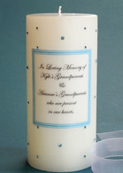 Aqua Swarovski Crystal Memorial Candles