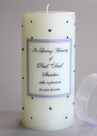 Dark Purple Swarovski Crystal Memorial Candles