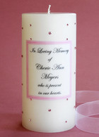 Pink Swarovski Crystal Memorial Candles