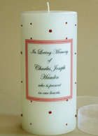 Pink-Orange Swarovski Crystal Memorial Candles