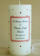 Pink-Orange Swarovski Crystal Memorial Candles