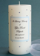 Light Blue Swarovski Crystal Memorial Candles