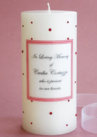 Red Swarovski Crystal Memorial Candles
