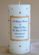 Topaz Swarovski Crystal Memorial Candles