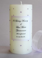 Violet Swarovski Crystal Memorial Candles