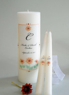 Watercolor Sunflower Wedding Unity Candles