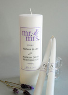 Mr. & Mrs. Purple Wedding Unity Candles