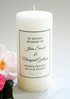 Simple Script Clear Memorial Candle