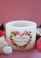 Pink Bouquet Heart Small Lantern
