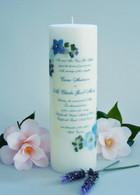 Blue Bouquet Wedding Invitation Candle
