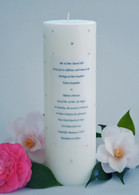 Swarovski Crystal Wedding Invitation Candle