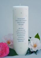Swarovski Crystal Wedding Invitation Candle