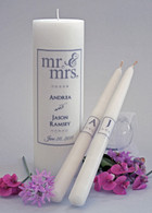 Mr. & Mrs. Charcoal Wedding Unity Candles