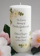 White Linen Memorial Candles