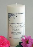 Corner Leaf Memorial Candle