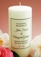 Simple Script Coral Memorial Candle