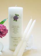 Gold Elegance Wedding Unity Candles - Pink Hydrangea