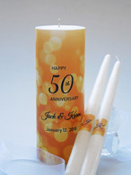 50th Anniversary Candle Set - Gold