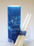 45th Anniversary Candle Set - Sapphire