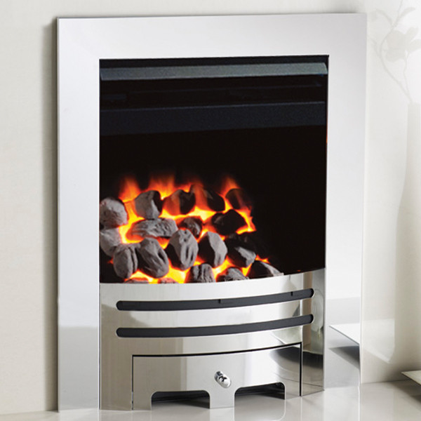 Crystal fires gem contemporary grace gas fire lowest for Modern gas fireplace price