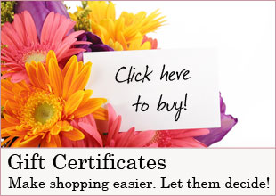 Blooming Gardens Gift Certificates