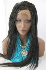 Fully hand braided lace front wig - Hope Color #2 in 22""