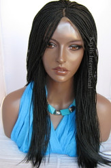 Fully hand braided lace front wig -Hannah 1 in 17""