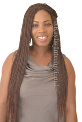 Fully hand braided lace front wig - Hope color 33 in 25""